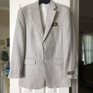 NWT Jos. A.Bank 40L Gray Tailor Fit Blazer Jacket